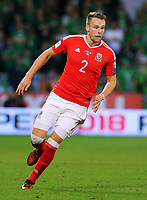Chris Gunter of Wales in action during the FIFA World Cup Qualifier Group D match between Wales and Republic of Ireland at The Cardiff City Stadium, Wales, UK. Monday 09 October 2017