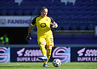 goalkeeper Justien Odeurs (13) of Anderlecht pictured during a female soccer game between RSC Anderlecht Dames and Standard Femina de Liege on the sixth matchday of the 2021 - 2022 season of Belgian Womens Super League , saturday 9 th of October 2021  in Brussels , Belgium . PHOTO SPORTPIX   DAVID CATRY