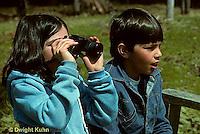 BG03-005z  Children using binoculars to see in the distance