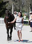 April 23, 2014: Sir Rockstar and Libby Head. during the first horse inspection at the Rolex Three Day Event in Lexington, KY at the Kentucky Horse Park.  Candice Chavez/ESW/CSM