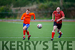 MEK's Eoghan Kennedy and Dara O'Connor of Lisard trying to out pace each other for possession in the Denny 2B league final.