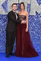 "Taron Egerton and girlfriend Emily Thomas <br /> arriving for the ""Rocketman"" premiere in Leicester Square, London<br /> <br /> ©Ash Knotek  D3502  20/05/2019"