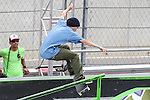 Skateboard Street men in action during the summer X-Games at the Circuit of the Americas race track in Austin, Texas.