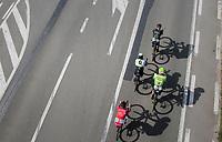 early breakaway group speeding towards the Moeren<br /> <br /> 79th Gent-Wevelgem 2017 (1.UWT)<br /> 1day race: Deinze › Wevelgem - BEL (249km)