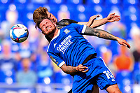 13th September 2020; Portman Road, Ipswich, Suffolk, England, English League One Footballl, Ipswich Town versus Wigan Athletic; James Norwood of Ipswich Town competes for a header with Tom Pearce of Wigan Athletic