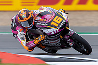 27th August 2021; Silverstone Circuit, Silverstone, Northamptonshire, England; MotoGP British Grand Prix, Practice Day; Rivacold Snipers Team rider Andrea Migno on his Honda NSF250RW in the Moto3 category