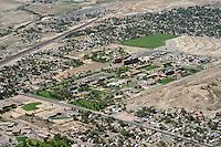 Colorado Mental Health Institute, Pueblo, Colorado.  Looking northwest