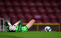 Bradford City's Richard O'Donnell lays on the pitch requiring treatment for an injury<br /> <br /> Photographer Chris Vaughan/CameraSport<br /> <br /> Carabao Cup Second Round Northern Section - Bradford City v Lincoln City - Tuesday 15th September 2020 - Valley Parade - Bradford<br />  <br /> World Copyright © 2020 CameraSport. All rights reserved. 43 Linden Ave. Countesthorpe. Leicester. England. LE8 5PG - Tel: +44 (0) 116 277 4147 - admin@camerasport.com - www.camerasport.com