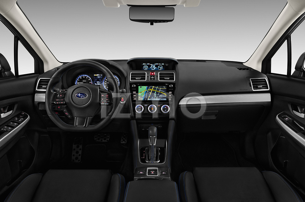 Stock photo of straight dashboard view of a 2018 Subaru Levorg GTS Premium 5 Door Wagon