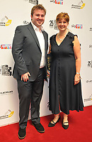 Alex Woolf and guest at the South Bank Sky Arts Awards 2021, The Savoy Hotel, the Strand, on Monday 19 July 2021, in London, England, UK. <br /> CAP/CAN<br /> ©CAN/Capital Pictures