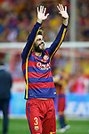 FC Barcelona's Gerard Pique celebrates the victory in the Spanish Kings Cup Final match. May 22,2016. (ALTERPHOTOS/Acero)