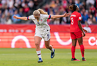 CARSON, CA - FEBRUARY 9: Lindsey Horan #9 of the United States celebrates during a game between Canada and USWNT at Dignity Health Sports Park on February 9, 2020 in Carson, California.