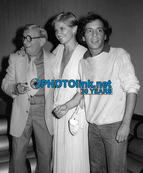 1978 FILE PHOTO<br /> New York City<br /> George Burns Steve Rubell at Studio 54<br /> Photo by Adam Scull-PHOTOlink.net