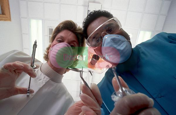 Patients view of dental procedure