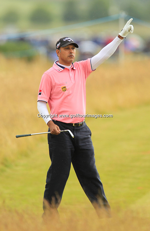 Jeev Miilkha Singh  (IND) during the third round of the 2012 Aberdeen Asset Management Scottish Open being played over the links at Castle Stuart, Inverness, Scotland from 12th to 15th July 2012:  Stuart Adams www.golftourimages.com:14th July 2012