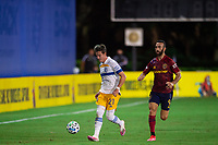 LAKE BUENA VISTA, FL - JULY 27: Carlos Fierro #21 of the San Jose Earthquakes dribbles the ball during a game between San Jose Earthquakes and Real Salt Lake at ESPN Wide World of Sports on July 27, 2020 in Lake Buena Vista, Florida.