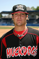 June 16, 2009:  Michael Blazek of the Batavia Muckdogs poses for a head shot before the teams practice at Dwyer Stadium in Batavia, NY.  The Batavia Muckdogs are the NY-Penn League Single-A affiliate of the St. Louis Cardinals.  Photo by:  Mike Janes/Four Seam Images