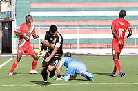 TULUA - COLOMBIA, 14-03-2021: Cortuluá y Llaneros F.C. en partido por la fecha 11 como parte del Torneo BetPlay DIMAYOR I 2021 jugado en el estadio Doce de Octubre de la ciudad de Tuluá. / Cortulua and Llaneros F.C. in the match for the date 11 as part of BetPlay DIMAYOR Tournament I 2021 played at Doce de Octubre stadium in Tulua city. Photo: VizzorImage / Samir Rojas / Cont