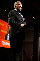New Democratic Party leader Tom Mulcair defeat speech in Montreal, on <br /> election night, September 19, 2015<br /> <br /> PHOTO : Michel Karpoff - Agence Quebec Presse