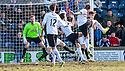 Raith Rovers' Mark Stewart (9) scores their first goal.