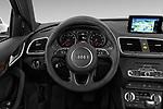Car pictures of steering wheel view of a 2015 Audi Q3 Premium Plus 5 Door SUV