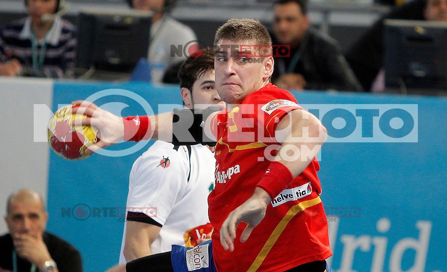 Spain's Julen Aguinagalde during 23rd Men's Handball World Championship. January 11, 2013. (ALTERPHOTOS/Alvaro Hernandez) /NortePhoto