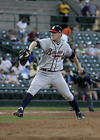 July 17, 2004:  Pitcher Dan Meyer of the Richmond Braves, Triple-A International League affiliate of the Atlanta Braves, during a game at Frontier Field in Rochester, NY.  Photo by:  Mike Janes/Four Seam Images