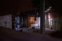 A look inside the permanently closed Pepe Bocca Napoli restaurant and deli in Davis Square in Somerville, Massachusetts, on Tue., Jan. 26, 2021. The deli had reopened as a restaurant and then permanently closed in 2018.