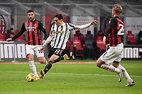 Federico Chiesa of Juventus FC scores the goal of 0-1 during the Serie A football match between AC Milan and Juventus FC at San Siro Stadium in Milano  (Italy), January 6th, 2021. Photo Federico Tardito / Insidefoto