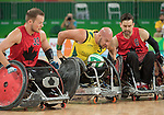 Zak Madell and Cody Caldwell, Rio 2016 - Wheelchair Rugby // Rugby En Fauteuil roulant.<br /> Canada vs. Australia in Wheelchair Rugby Mixed - Pool Phase Group A, Match 12 // Le Canada affronte l'Australie en Rugby en fauteuil roulant mixte - Phase de poule, groupe A, match 12. 16/09/2016.
