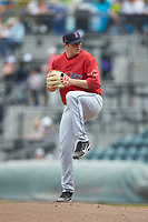 Salem Red Sox starting pitcher Jake Thompson (41) in action against the Winston-Salem Dash at BB&T Ballpark on April 22, 2018 in Winston-Salem, North Carolina.  The Red Sox defeated the Dash 6-4 in 10 innings.  (Brian Westerholt/Four Seam Images)