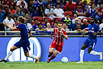 Bayern Munich Defender Rafinha de Souza (L) plays against Chelsea Midfielder Jeremie Boga (R) during the International Champions Cup match between Chelsea FC and FC Bayern Munich at National Stadium on July 25, 2017 in Singapore. Photo by Marcio Rodrigo Machado / Power Sport Images