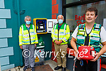 First Responders at one of the Public Defibrillators in Cahersiveen pictured here front John Galvin(Waterville CFR), back l-r; Robert Grandfield(Portmagee CFR) & Frank O'Leary(Cahersiveen CFR).