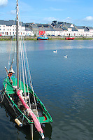 A Fishing Boat tied up in Galway Bay