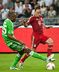 GUANGZHOU, GUANGDONG - JULY 26:  Franck Ribery (R) of Bayern Munich and Rodrigues of VfL Wolfsburg in action during a friendly match as part of the Audi Football Summit 2012 on July 26, 2012 at the Guangdong Olympic Sports Center in Guangzhou, China. Photo by Victor Fraile / The Power of Sport Images