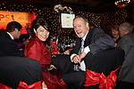 ISPS Handa Wales Open 2012.Midori Miyazaki from ISPS with Celtic Manor owner Sir Terry Matthews at the Gala dinner...29.05.12.©Steve Pope