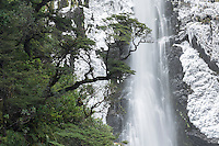 Devil's Punchbowl Falls in Arthur's Pass National Park, Canterbury, South Island, New Zealand