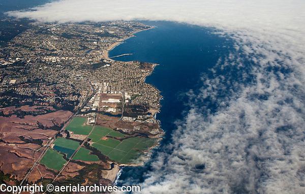 aerial photograph a high overview of Santa Cruz, Santa Cruz county, California