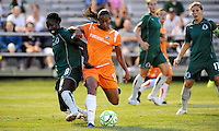 Rosana  #11 holds off the challenge of Tina Ellertson #8 .Saint Louis Athletica defeated Sky Blue F.C 1-0, at The Anheuser-Busch Soccer Park, Fenton, Missouri.