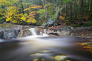 Harvard Brook in the White Mountains, New Hampshire USA during the autumn months.