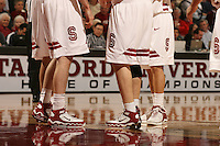 16 February 2006: Nike shoes during Stanford's 82-69 win over the Arizona State Sun Devils at Maples Pavilion in Stanford, CA.