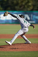 Augusta GreenJackets starting pitcher Malcolm Van Buren (22) in action against the Charleston Boiled Peanuts at Joseph P. Riley, Jr. Park on June 26, 2021 in Charleston, South Carolina. (Brian Westerholt/Four Seam Images)