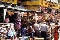 Shopping area of Arab Street in Singapore with Indian Influences and peopl