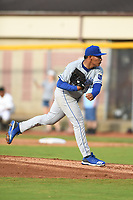 Burlington Royals starting pitcher Angel Zerpa (30) throws to a batter during a game with the Bristol Pirates at Boyce Cox Field on June 19, 2019 in Bristol, Virginia. The Royals defeated the Pirates 1-0. (Tracy Proffitt/Four Seam Images)