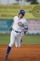 April 7th 2010: D.J. LeMahieu of the Daytona Cubs, Florida State League High-A affiliate of the Chicago Cubs in the game against Embry-Riddle Aeronautical University at Jackie Robinson Ballpark in Daytona Beach, FL (Photo By Scott Jontes/Four Seam Images)