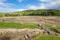Northumberland,  England, UK.  Vindolanda Roman Fort