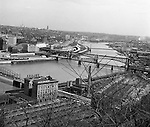 Pittsburgh PA:  View from Mt. Washington, looking across the Monongahela River toward the Oakland section of Pittsburgh.