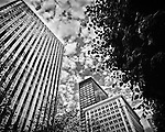 Dayton Buildings (shot from Courthouse Plaza)<br /> Black & White
