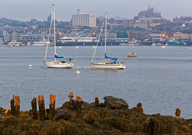 View of Portland, Maine, USA