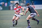 Ryoto Nakamura of Japan (L) in action during the Asia Rugby Championship 2017 match between Hong Kong and Japan on May 13, 2017 in Hong Kong, China. Photo by Marcio Rodrigo Machado / Power Sport Images